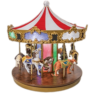 Wooden Toy Merry Go Round transparent PNG.