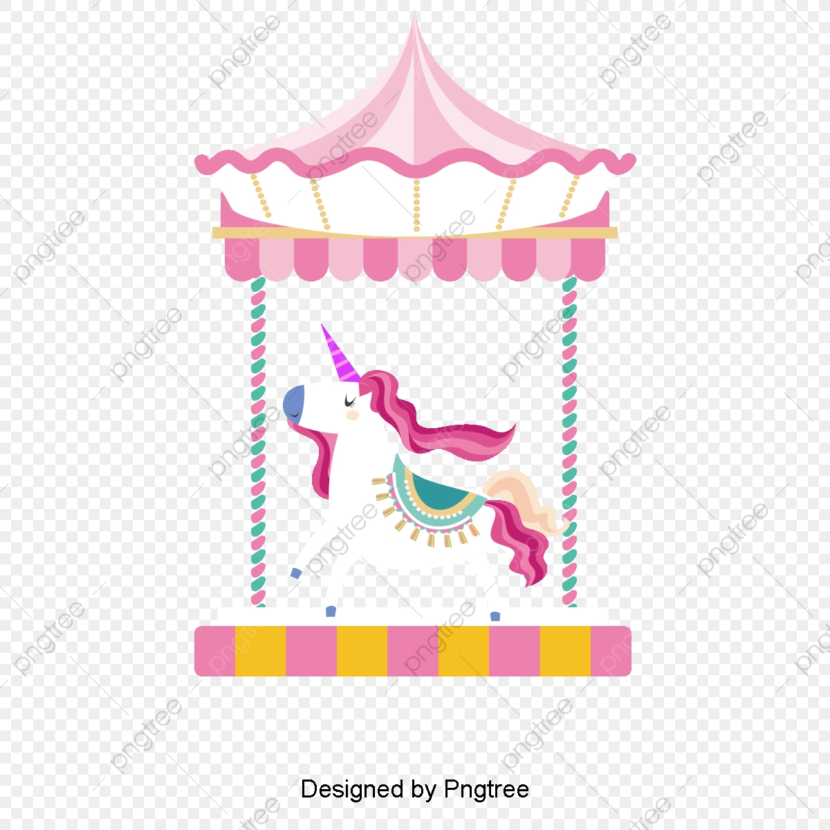 Pink Merry Go Round, Vector Png, Trojan, Merry Go Round PNG.