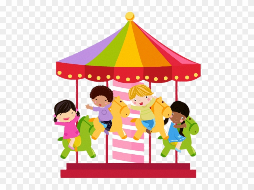 Colourful Merry Go Round Illustration.