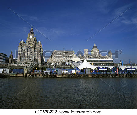 Stock Photo of England, Merseyside, Liverpool, A view of Liverpool.