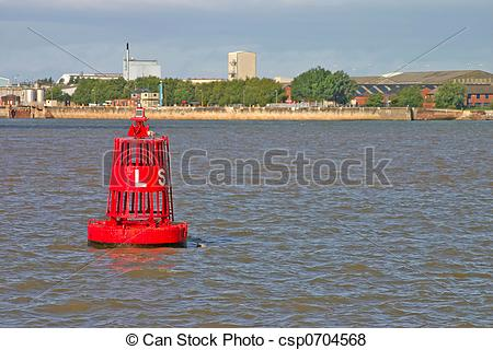 Pictures of Shippin Buoy on the River Mersey in Liverpool England.