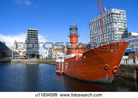 Stock Photograph of England, Merseyside, Liverpool. The former.