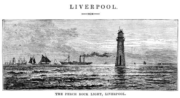 River Mersey Northwest England Clip Art, Vector Images.