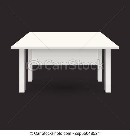 Vector 3d mesa para la presentación de objetos. mesa blanca.