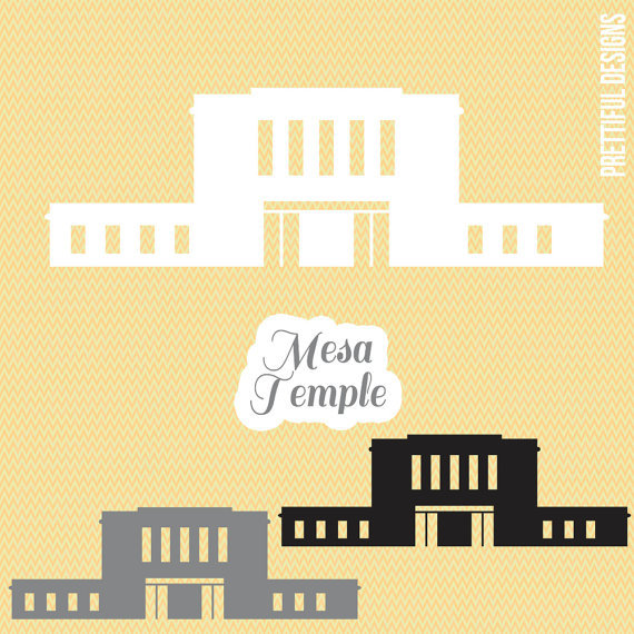 Mesa Temple Arizona LDS Mormon Clip Art png eps svg Vector.