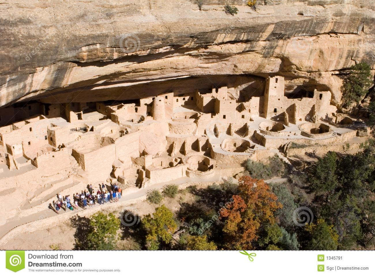 Ancient Ruins, Mesa Verde, Colorado Stock Image.