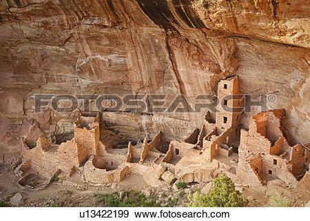 Stock Photograph of USA, Colorado, Mesa Verde, Mesa Verde National.