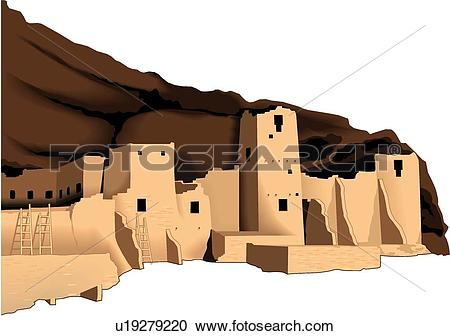 Stock Illustrations of Mesa Verde, Colorado u19279220.