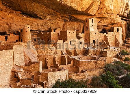 Stock Photographs of Mesa Verde.