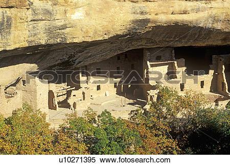 Stock Image of Dwellings at Mesa Verde National Park u10271395.