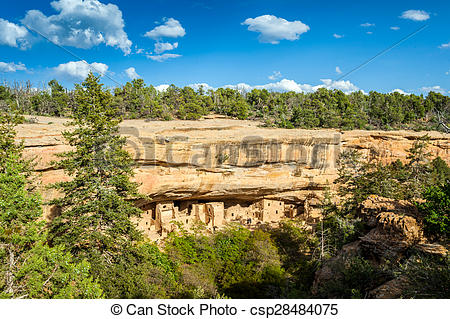 Picture of Cliff dwellings in Mesa Verde National Parks, CO, USA.