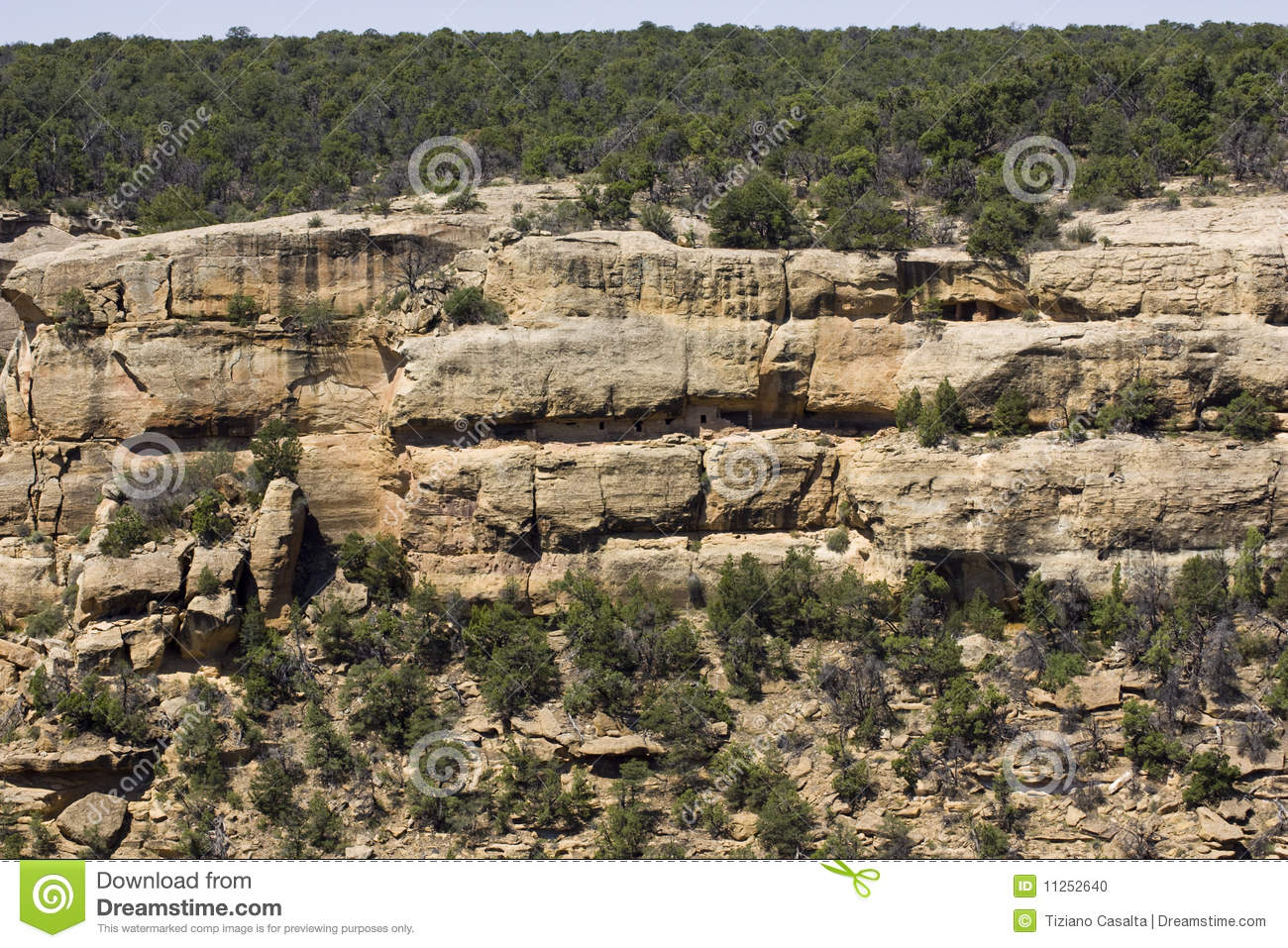 Mesa Verde National Park Stock Photo.
