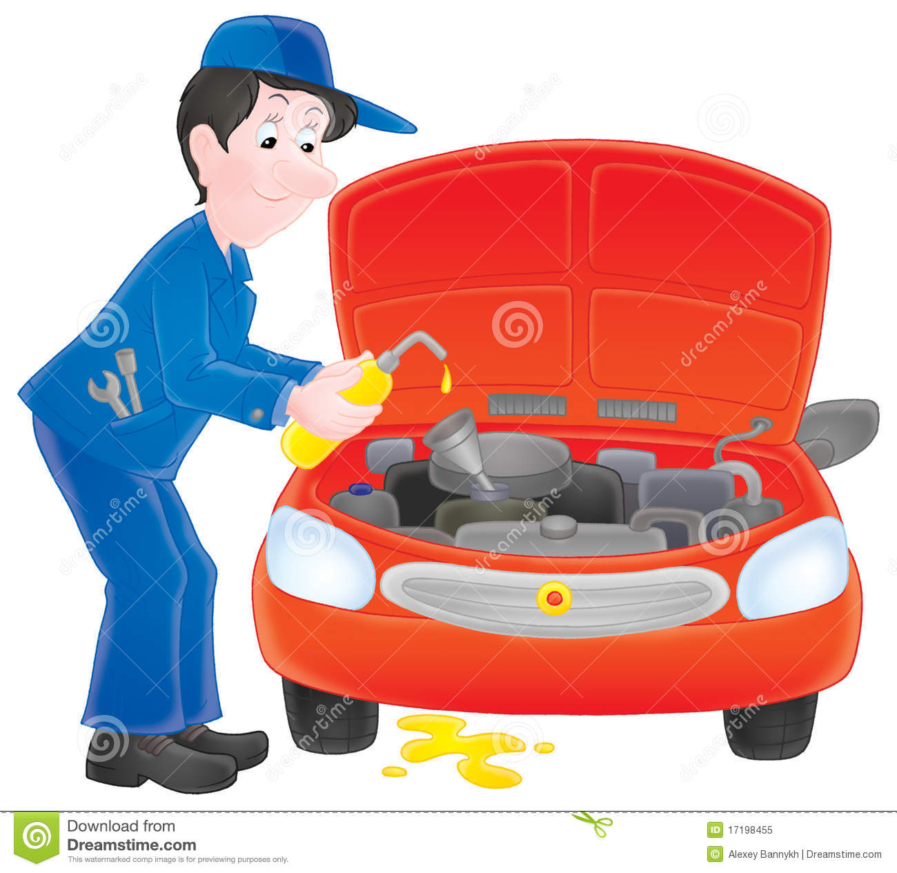 Truck Mechanic Clipart.
