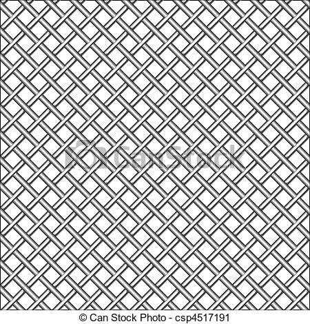 Clipart of design with metallic realistic mesh, abstract seamless.