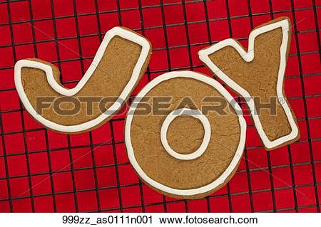 Stock Photography of Closeup of three homemade gingerbread cookie.