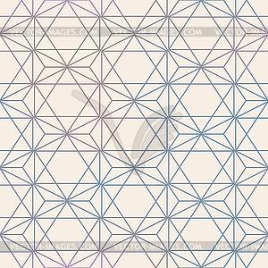 Abstract Seamless Geometric Hexagon Pattern. Mesh.