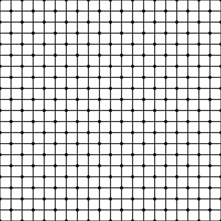Mesh Pattern Monochrome.