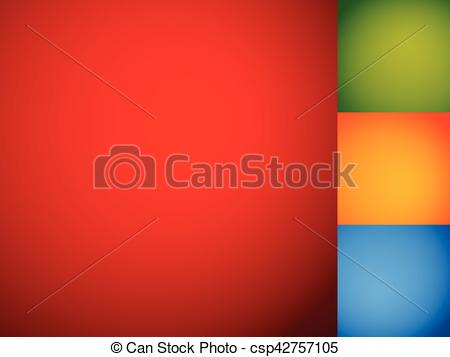 Vector Clipart of Set of smooth colorful backdrops / backgrounds.