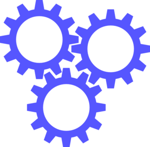 3 Blue Gears Clip Art at Clker.com.