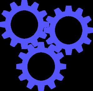 3 Blue Gears Clip Art at Clker.com.
