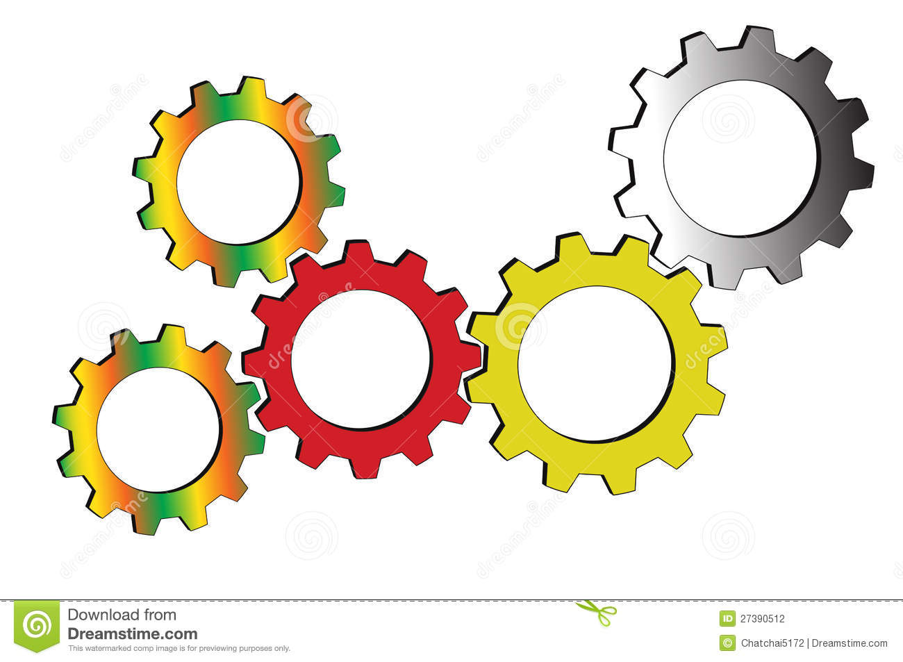 Gear Meshing Clipart.