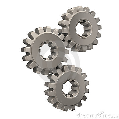 Meshing Gears Stock Image.
