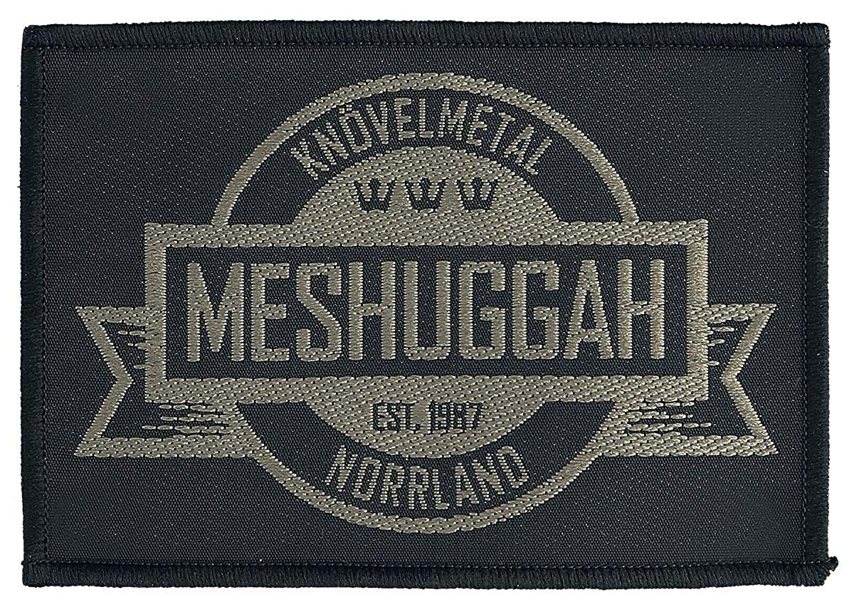 Meshuggah Crest Patch Logo Progressive Metal Band Music Woven Sew On  Applique.