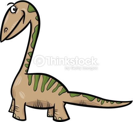 Apatosaurus Dinosaur Cartoon Illustration Vector Art.