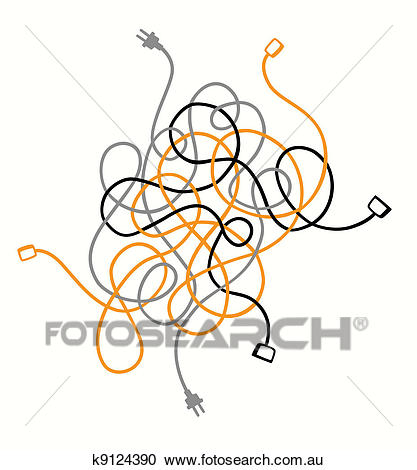 Cable mess Clipart.