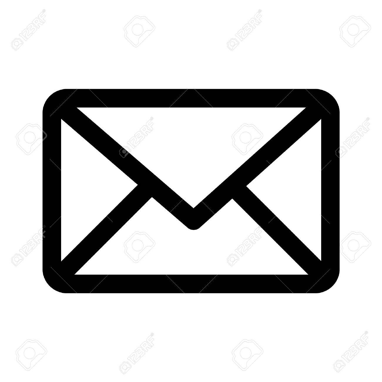 Email message line art icon for apps and websites.