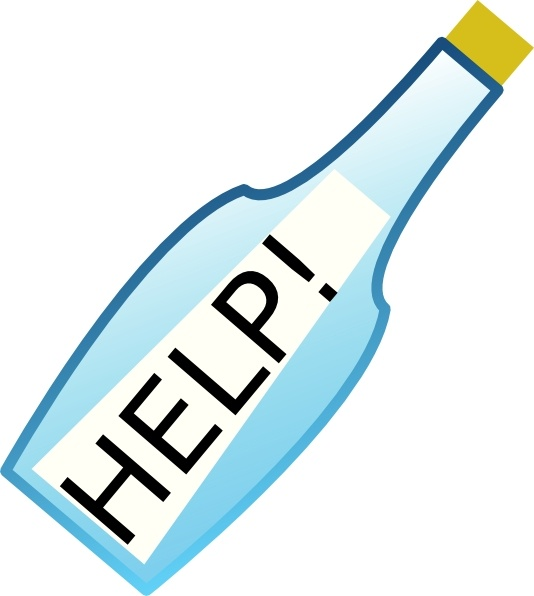 Message In A Bottle clip art Free vector in Open office drawing.