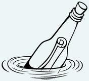 Message Bottle Stock Illustrations.