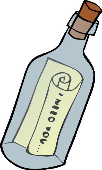 Message In A Bottle clip art Free Vector / 4Vector.