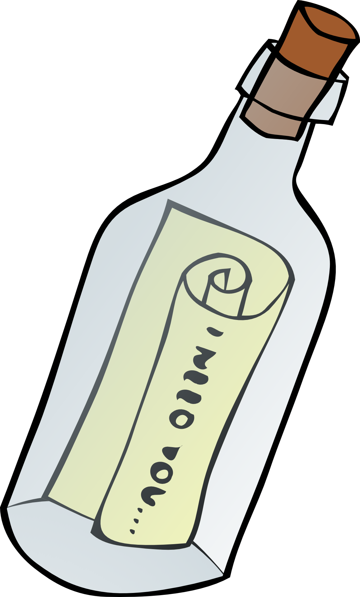 Message in the bottle clipart free image.