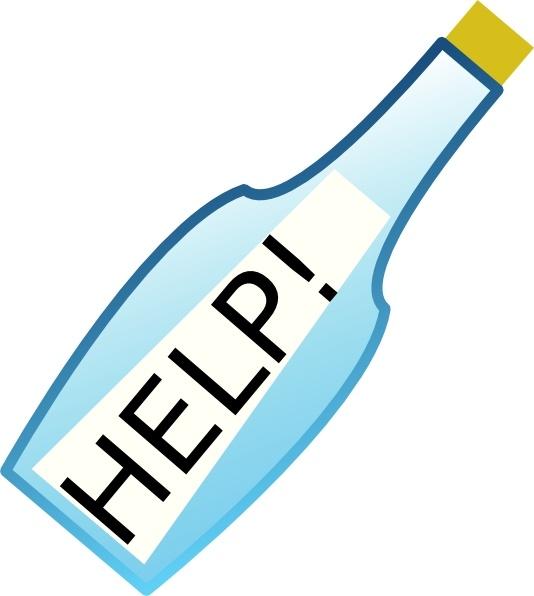 Message In A Bottle clip art Free vector in Open office.