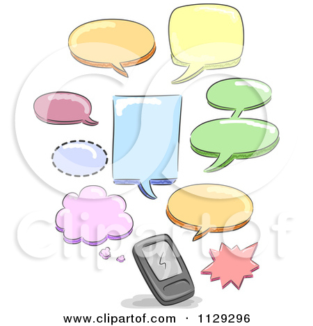 Free clipart for text messages.