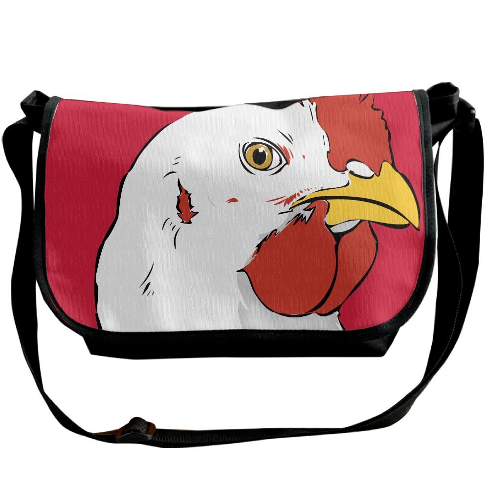 Chicken Clipart Face Casual Adjustable Strap Shoulder Bag.