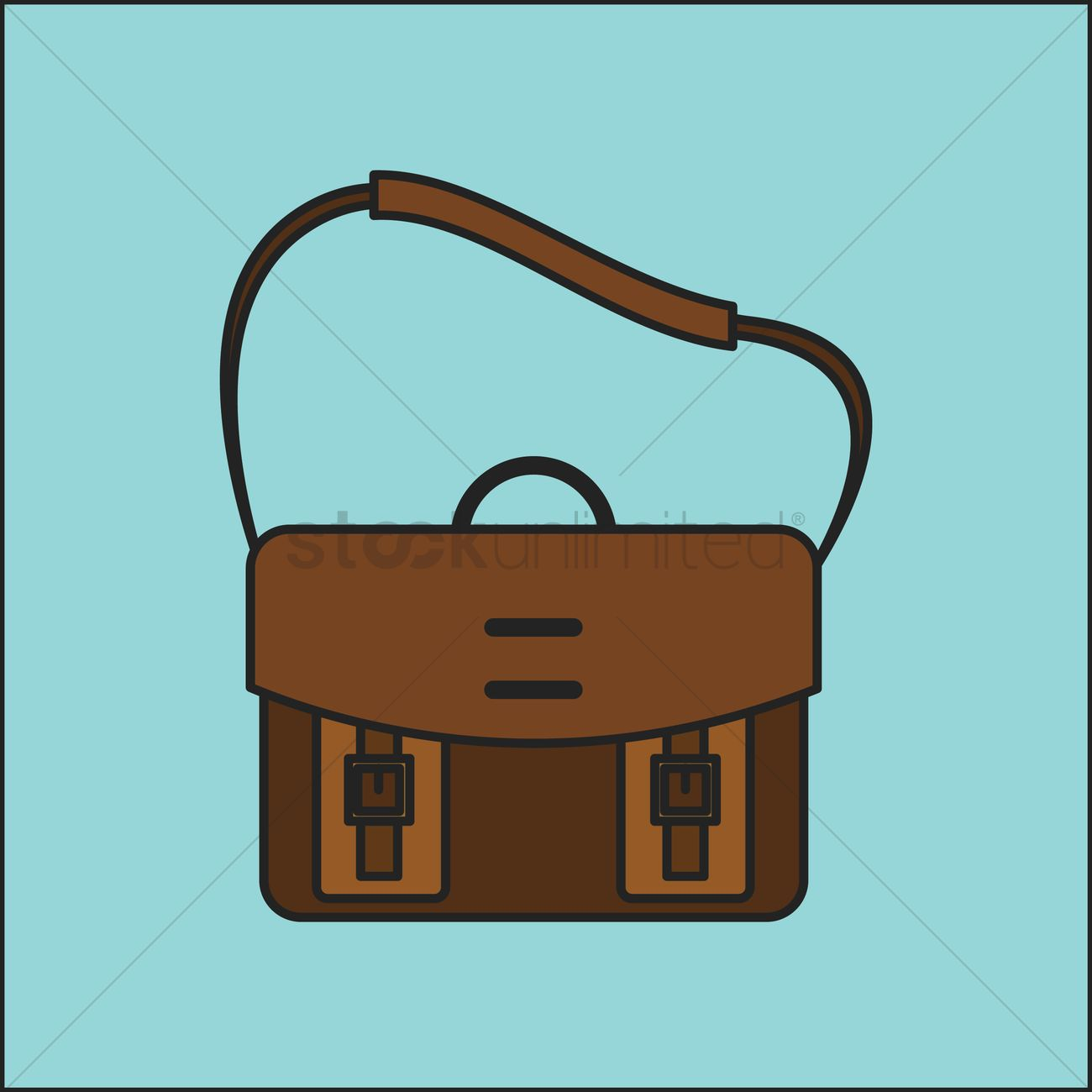 Messenger bag Vector Image.