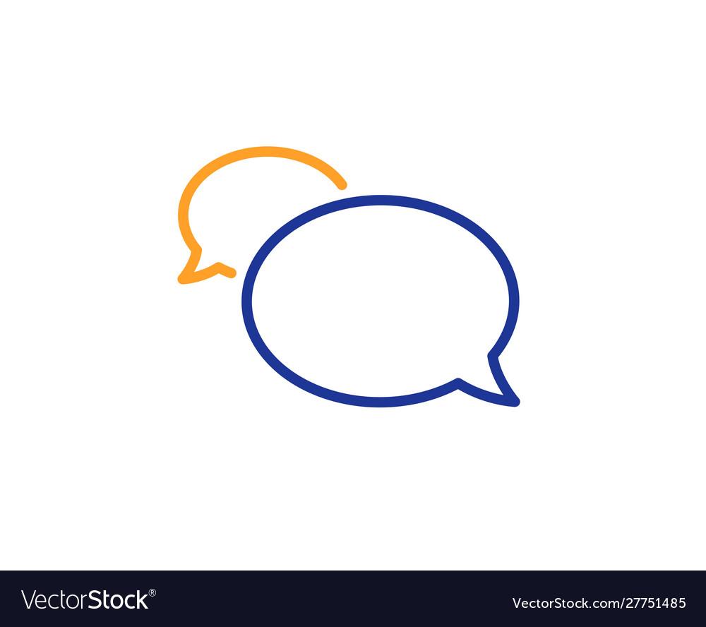 Messenger line icon speech bubble sign chat.