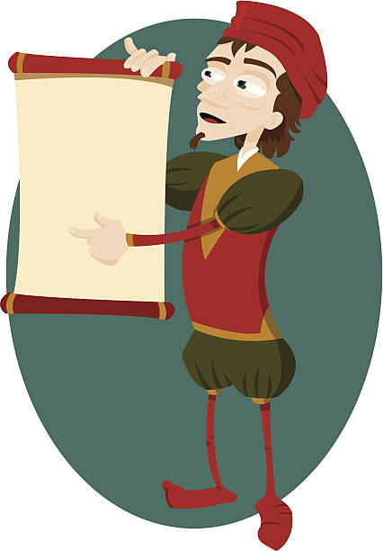 Medieval Messenger Illustrations, Royalty.