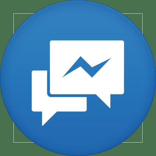 Circle Messenger Icon transparent PNG.