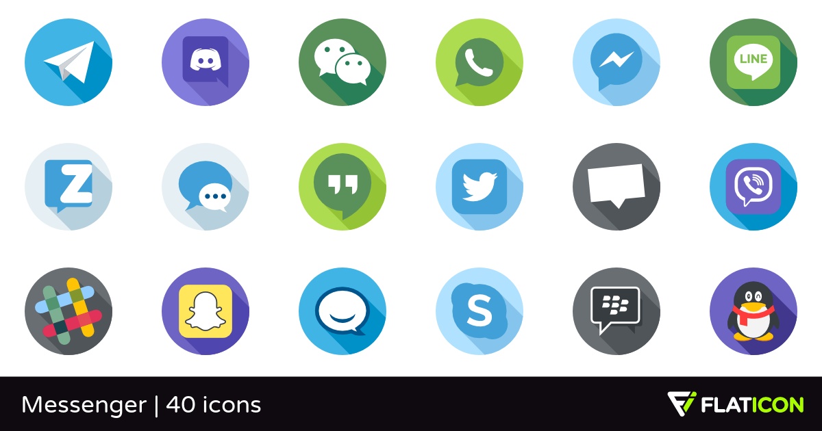 Messenger 40 free icons (SVG, EPS, PSD, PNG files).