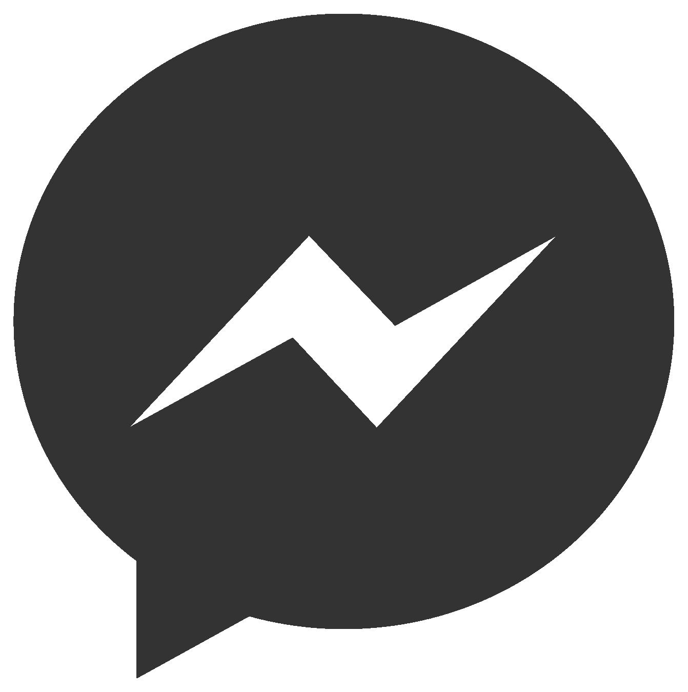 Black Facebook Messenger Logo #44115.