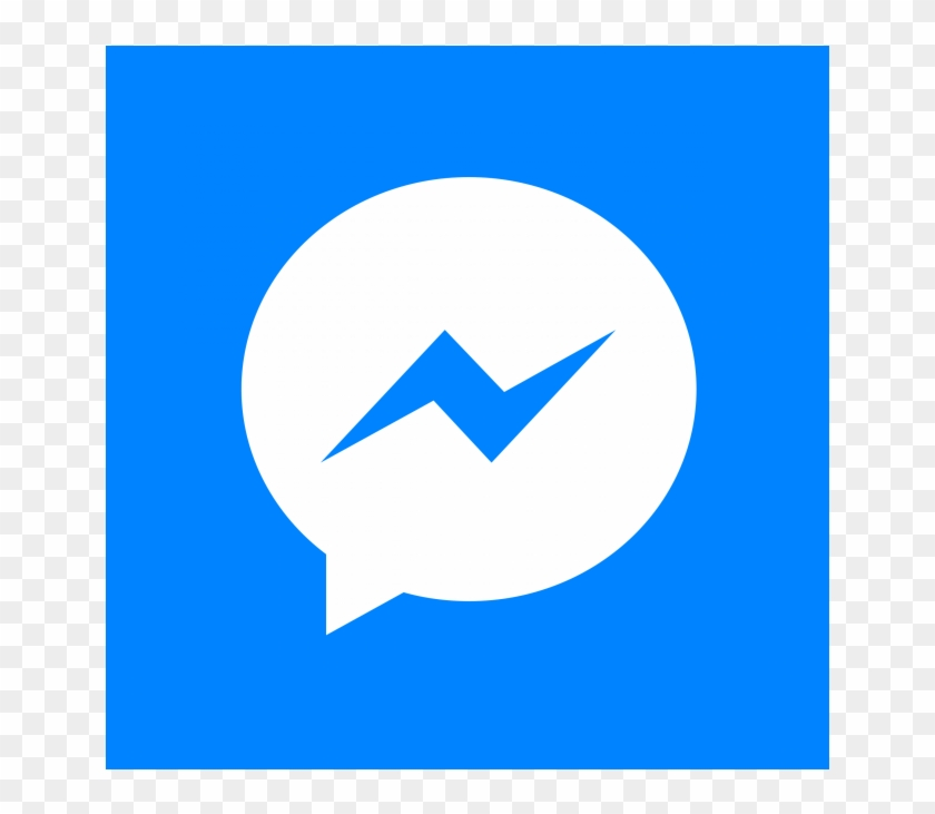 Facebook Messenger White Icon.