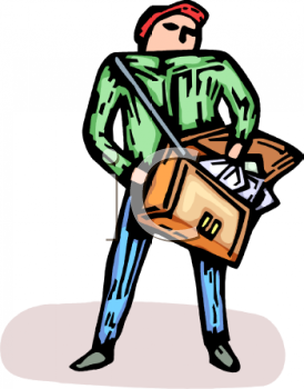 Royalty Free Clip Art Image: Messenger or Courier.
