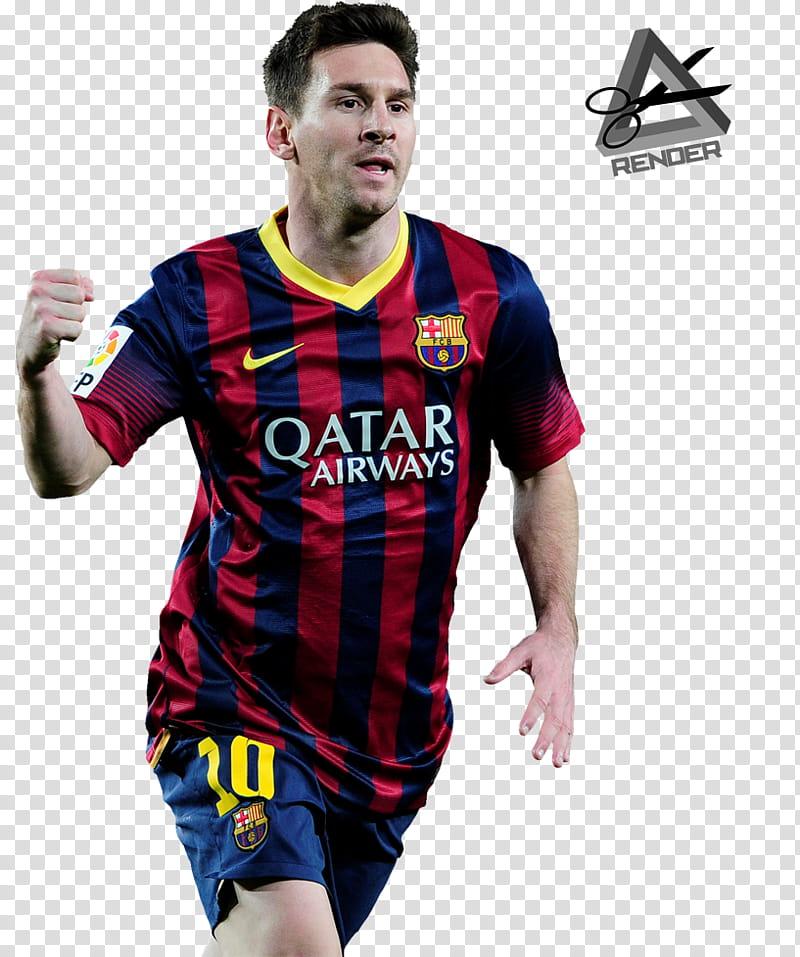 Lionel Messi render transparent background PNG clipart.