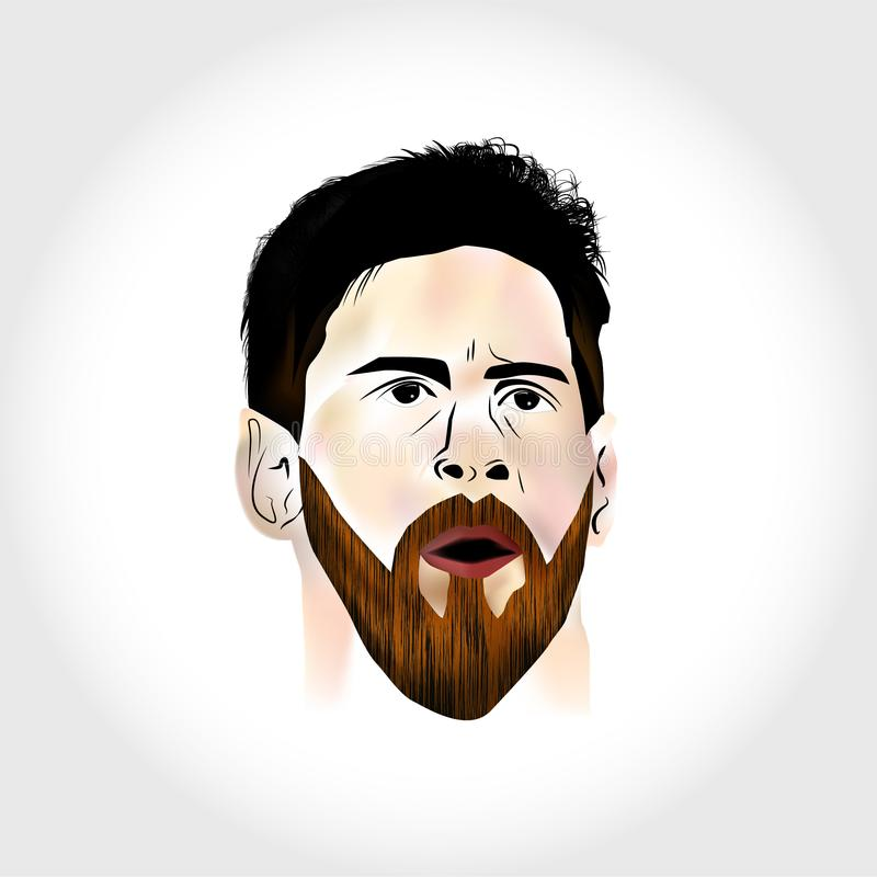 Messi Stock Illustrations.