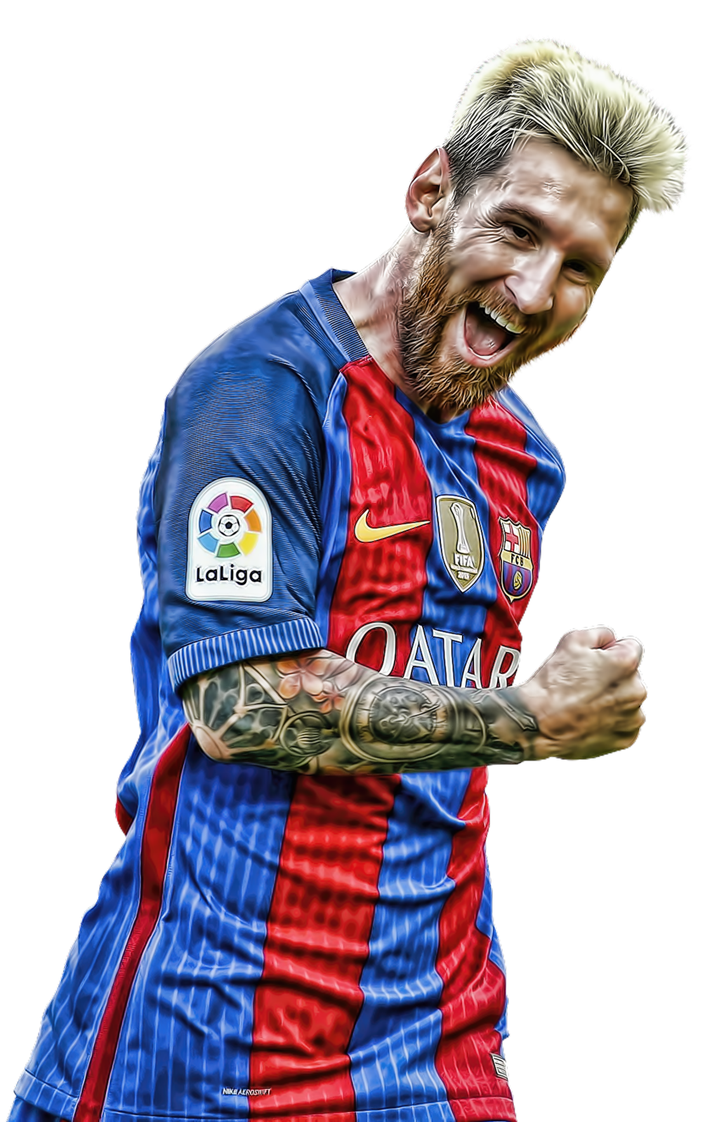 Lionel Messi Png Happy Smile Fc Barca Clipart.