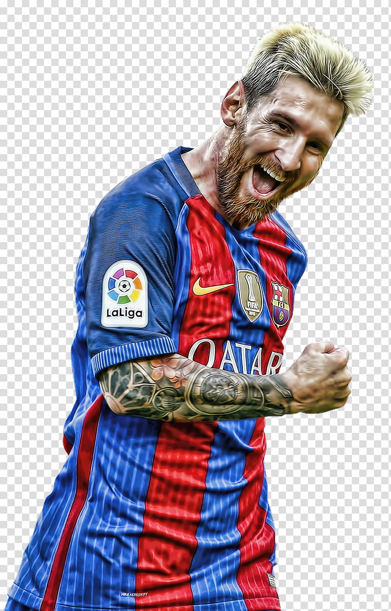 Lionel Messi topaz transparent background PNG clipart.