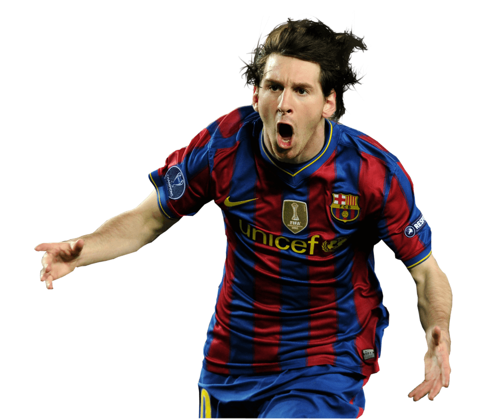 Lionel Messi Angry transparent PNG.